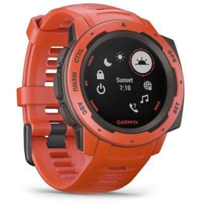 Chytré hodinky Garmin Instinct červené