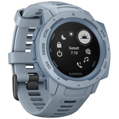 Chytré hodinky Garmin Instinct světle modré