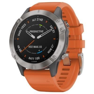 Chytré hodinky Garmin fenix6 Sapphire oranžové