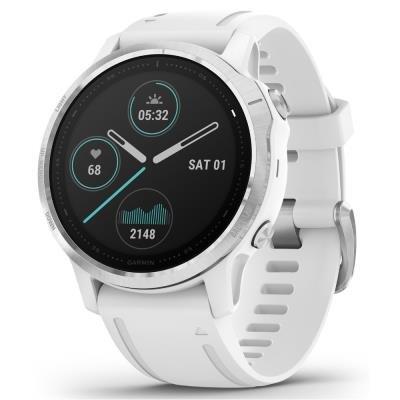 Chytré hodinky Garmin fenix6S Glass stříbrno-bílé