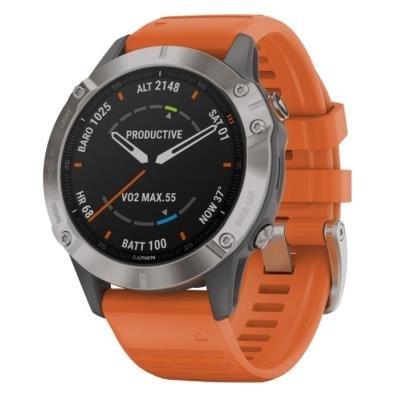 Chytré hodinky Garmin fenix6 Pro Sapphire oranžové