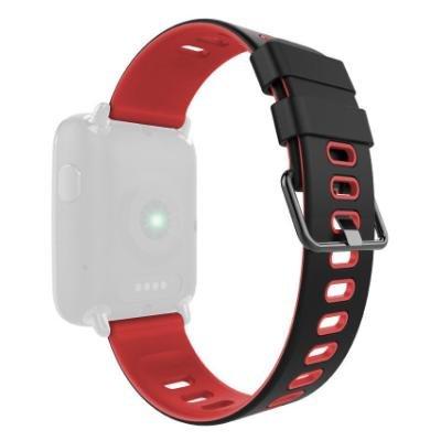 IMMAX řemínek pro chytré hodinky SW9/ černo-červený