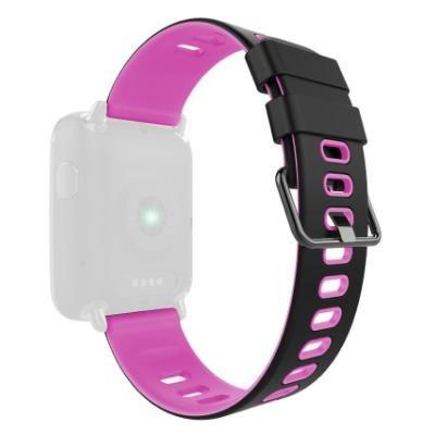 IMMAX řemínek pro chytré hodinky SW9/ černo-růžový