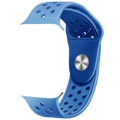 IMMAX řemínek pro chytré hodinky SW10/ SW13/ Apple watch/ modro-černý