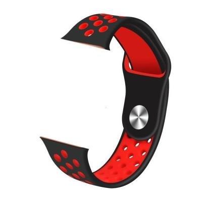 IMMAX řemínek pro chytré hodinky SW10/ SW13/ Apple watch/ černo-červený
