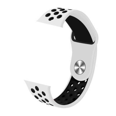 IMMAX řemínek pro chytré hodinky SW10/ SW13/ Apple watch/ bílo-černý