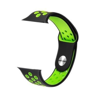 IMMAX řemínek pro chytré hodinky SW10/ SW13/ Apple watch/ černo-zelený