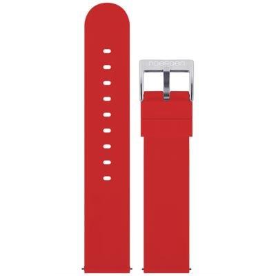 Noerden silikonový řemínek 20mm červený