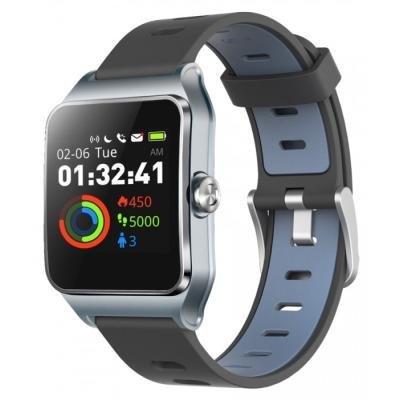 Chytré hodinky UMAX U-Band P1 PRO šedo-stříbrné
