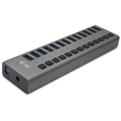 USB Hub I-TEC 13 portů USB 3.0 + adaptér 60W