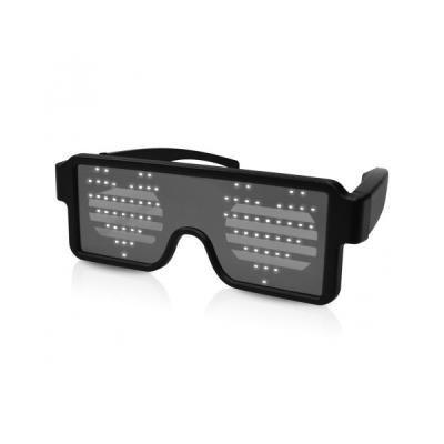 iDANCE Funky LED Glasses LG100/ Bílé/ 8 LED symbolů