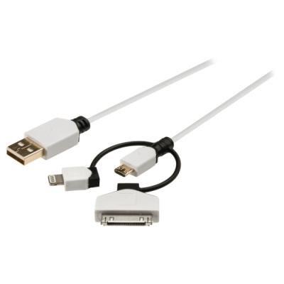 Kabel König USB na micro USB s Ligntning a 30-pin