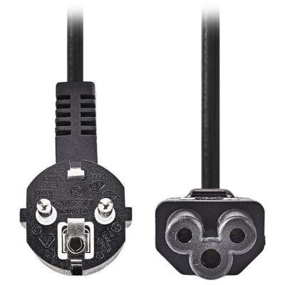 NEDIS napájecí kabel 230V/ přípojný 10A/ konektor IEC-320-C5/ úhlová zástrčka Schuko/ trojlístek/ černý/ 2m