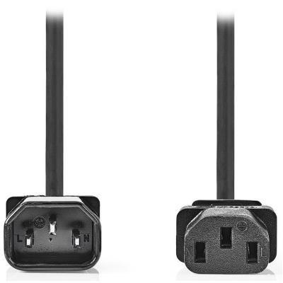 NEDIS napájecí prodlužovací kabel/ konektor IEC-320-C14/ konektor IEC-320-C13/ černý/ 3m