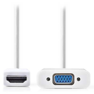 Kabel Nedis HDMI na VGA a 3,5mm výstup