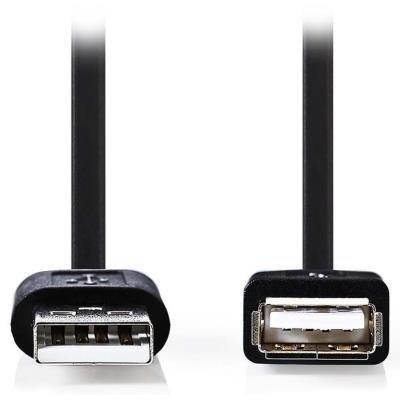 Kabel Nedis USB 2.0 typ A (M) - USB A (F) 1m