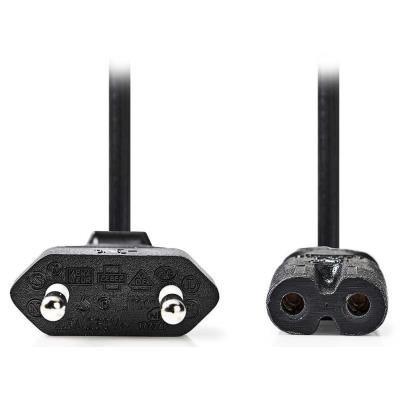 Kabel Nedis Euro na IEC-320-C7 černý 2m