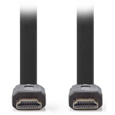 NEDIS High Speed HDMI kabel s Ethernetem/ HDMI konektor - HDMI konektor/ plochý/ černý/ 2m