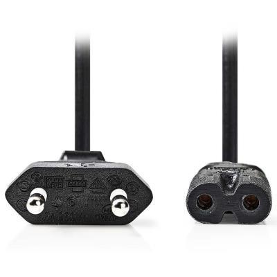 Kabel Nedis Euro na IEC-320-C7 černý 3m