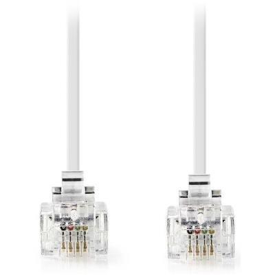 NEDIS telefonní kabel/ zástrčka RJ11 - zástrčka RJ11/ 10m/ bílý