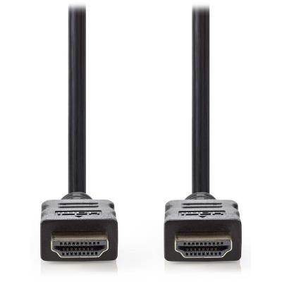 NEDIS High Speed HDMI kabel s ethernetem/ zlacené konektory HDMI-HDMI/ 4K/ černý/ 2m