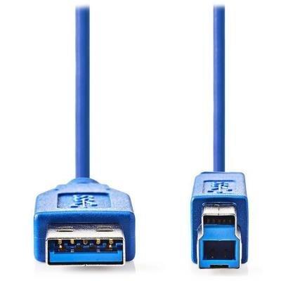 Kabel Nedis USB 3.0 typ A na typ B 2m modrý