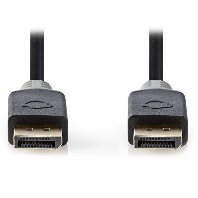 Nedis kabel DisplayPort 1.4 2m černo-šedý