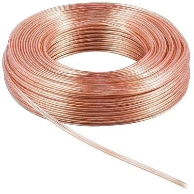 PremiumCord kabel na propojení reproduktorů/ 2x 1,5mm / 10m / průhledný
