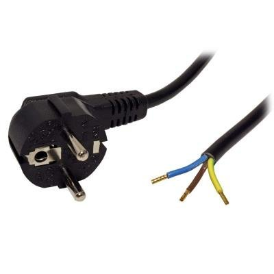 Napájecí kabel 230V, 3 žilový, 1,2m, pocínované konektory, CZ