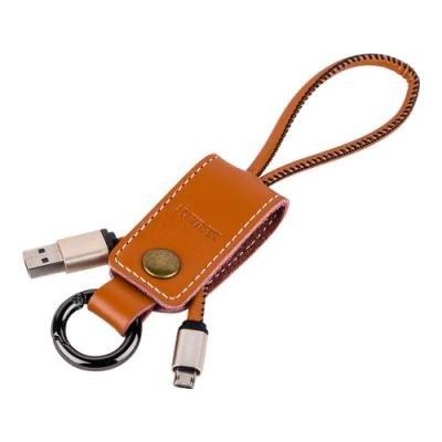 REMAX elegantní datový kabel Western / USB 2.0 typ A samec na USB 2.0 micro-B / 0,32m / hnědý