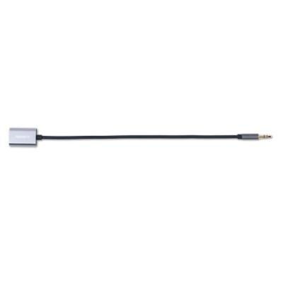 Kabel REMAX 3,5 mm jack na 2x jack 20cm šedý