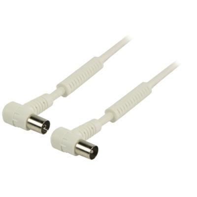 Kabel Valueline koaxiální anténní 120dB 5 m bílý