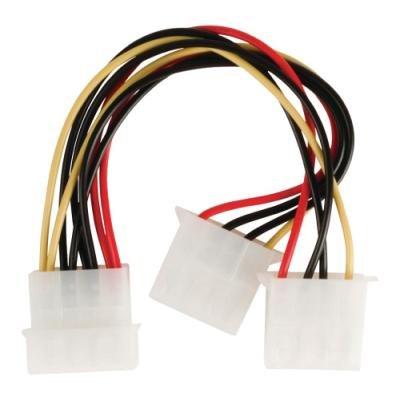 Kabel Valueline Molex zástrčka - 2x Molex zásuvka