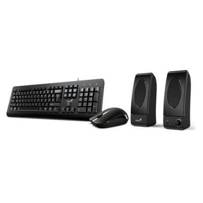 POŠKOZENÝ OBAL - GENIUS KMS U130/ Kancelářský set klávesnice, myš a reproduktory