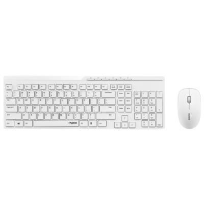 Set klávesnice a myši Rapoo X8100 bílá