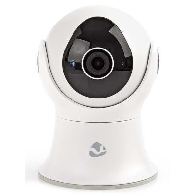 NEDIS IP Kamera/ venkovní/ IP65/ Wi-Fi/ 1080p/ PIR senzor/ otáčení/náklon/ 16GB/ Android/ iOS/ adaptér/ bílá