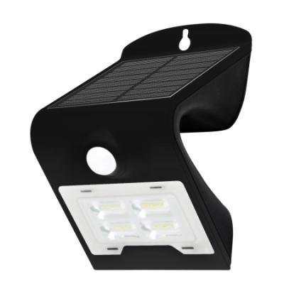 LED reflektor IMMAX solární s čidem 2W černý