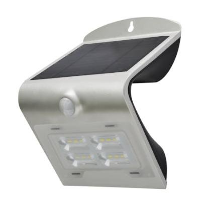 LED reflektor IMMAX solární s čidem 2W stříbrný