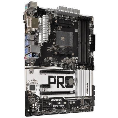 ASRock X370 Pro4 / X370 / AM4 / 4x DDR4  DIMM / M.2 / USB Type-C / HDMI / DVI-D / D-Sub / ATX