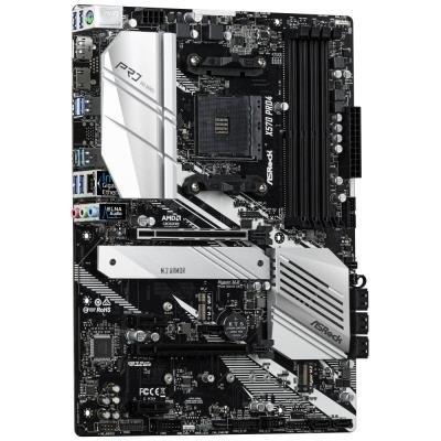 ASRock X570 PRO4 / AM4 / 4x DDR4 DIMM / HDMI / DP / 2x M.2 / USB Type-C / ATX