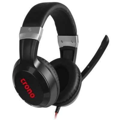 CRONO headset Arch/ gaming/ drátová sluchátka + mikrofon/ 2x stereo jack 3,5 mm/ 96 dB/ černý