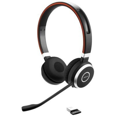 JABRA Evolve 65 DUO Bluetooth Headset se stojánkem