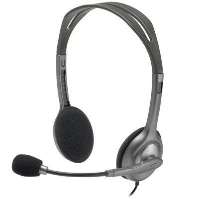 LOGITECH Headset Stereo H110/ drátová sluchátka + mikrofon/ 3,5 mm jack/ šedá