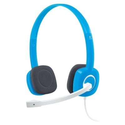 LOGITECH Headset Stereo H150/ drátová sluchátka + mikrofon/ 3,5 mm jack/ modrá