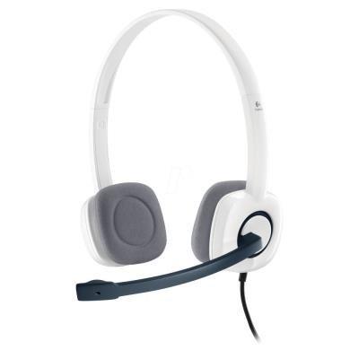 LOGITECH Headset Stereo H150/ drátová sluchátka + mikrofon/ 3,5 mm jack/ kokosová bílá