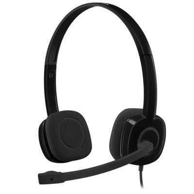 LOGITECH Headset Stereo H151/ drátová sluchátka + mikrofon/ 3,5 mm jack/ černá