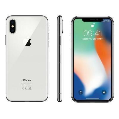 Mobilní telefon Apple iPhone X 256GB stříbrný