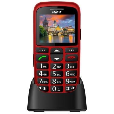 Mobilní telefon iGET Simple D7 červený