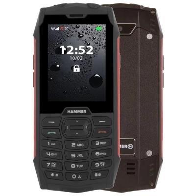 Mobilní telefon myPhone HAMMER 4 černo-červený