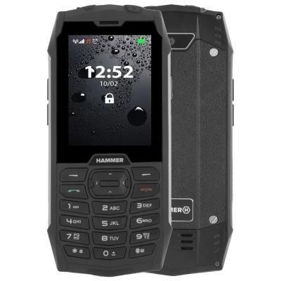 Mobilní telefon myPhone HAMMER 4 černo-stříbrný